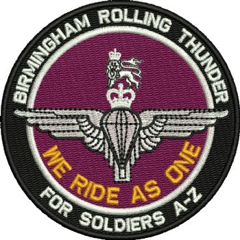 Birmingham Rolling Thunder Embroidered Badge